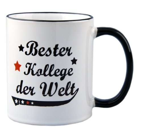 Tasse Bester Kollege der Welt Vintage Style - Geschenk