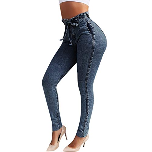 Luckycat Damen Stretch Hose High Waist Jeans Skinny Jegging hoher Bund Slim Fit Chunkyrayan Bootcut Jeans Hose Damenjeans Hüftjeans Gerades Bein Dicke Naht Nähte Boyfriend Harem Baggy Chino Haremshose