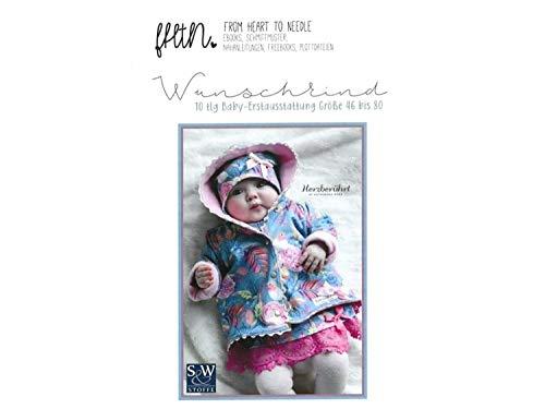 Brittschens Stoffe und Zutaten Papierschnittmuster Wunschkind by from Heart to Neddle - 10 teiliges Babyset - Größe 46-80