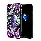 甘い子 For IPhone 7/8 Cases 鬼 滅 の 刃 胡蝶 しのぶ Black One Size