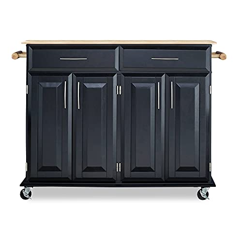 Dolly Madison Black Kitchen Cart by Home Styles, 48-1/4 in. W x 18-1/4 in. D x...