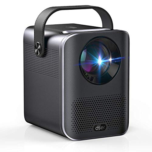 """Video Projector, 1080P and 160"""" Display Supported, Dser Portable Mini Projector with 60,000Hrs LED, 150ANSI 4000 Lumen Home Theater Movie Projector Compatible with Fire TV, Laptops, PC, PS4, HDMI, USB"""