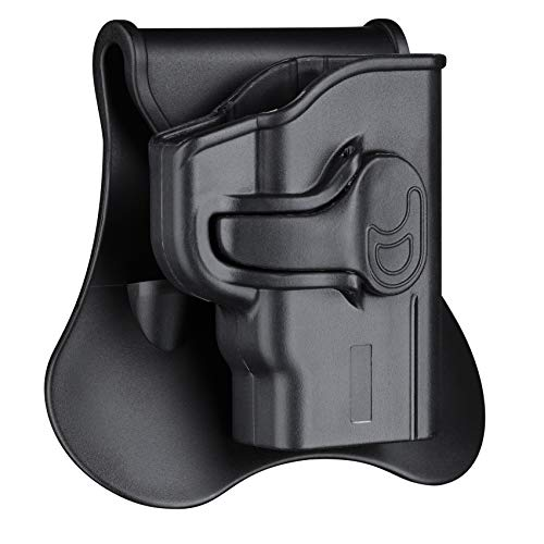 Polymer OWB Holster for S&W M&P Bodyguard 380 with Integrated Crimson Trace Laser/No Laser - Index Finger Released   Adjustable Cant   Autolock   Outside Waistband   Right Handed