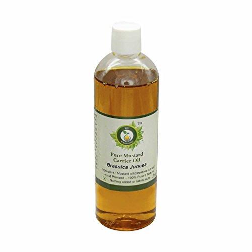 R V Essential Pur porteur moutarde Huile 100ml (3.38oz) - Brassica juncea (100% Pur et naturelle pressée à froid) Pure Mustard Carrier Oil