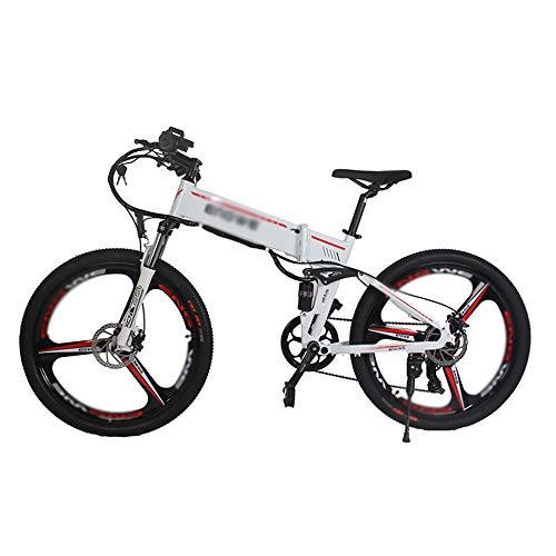 PHASFBJ Bicicleta Eléctrica, 350W Motor Bicicleta Plegable para Hombre Mountain Ebike 21...