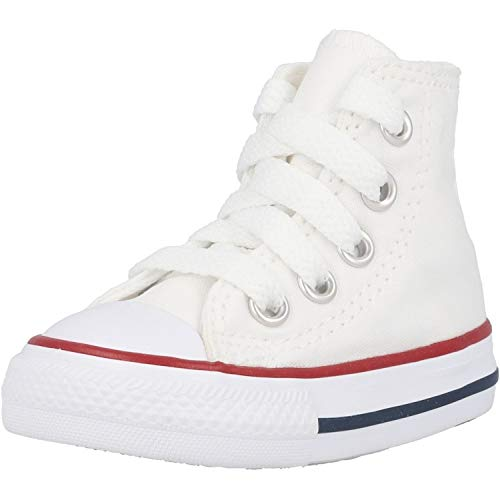 Converse Toddler White All Star Hi Trainers-UK 3 Infant