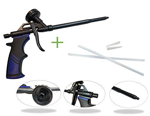 Pistola de espuma, pistola de espuma de construcción, pistola de espuma de poliuretano, pistola dosificadora de metal