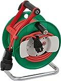 Brennenstuhl 1148370 Garant - Carrete alargador de cable para jardín (25 m, AT-N07V3V3-F 3G1,5, IP 44)