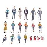 LIOOBO Packung mit 20 naturgetreuen Mini-Figuren Miniaturfiguren bemalte Form für...