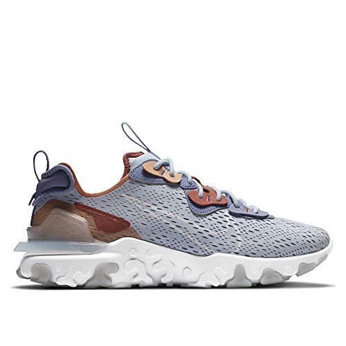 Nike React Vision, Zapatillas para Correr para Hombre, Lt Armory Blue Pure Platinum Amber Brown Claystone Red World Indigo, 42.5 EU
