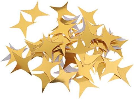 perfk Adesivi per Porte Dipinti in 3D Adesivi Murali con Cornice a Specchio con Motivo a Adesivi Murali con Foto Fai Da Te5x5cm 50pcs Oro