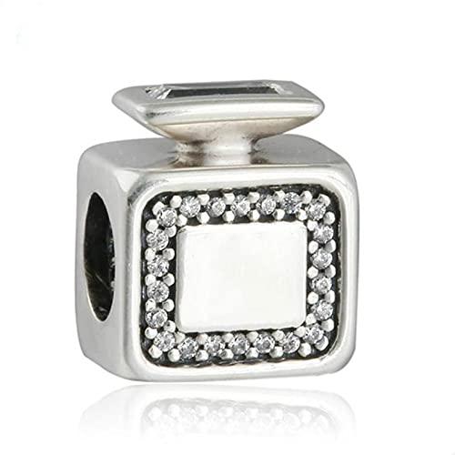 Auténtica Pandora 925 Cuentas De Plata Esterlina Diy Original Pave Firma Fragancia Botella De Perfume Charm Para La Fabricación De Joyas Fit Mm Pulsera