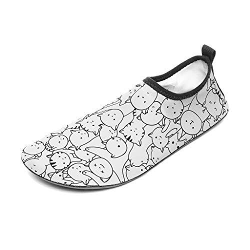 Zapatillas de agua unisex, para todo tipo de niños, para natación, playa, yoga, snorkeling, color blanco, talla 36/37