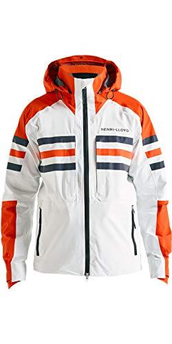 Henri Lloyd Herren Fremantle Stripe Hooded Gore-Tex Coat Jacke Cloud White - Easy Stretch Waterproof Sprayproof