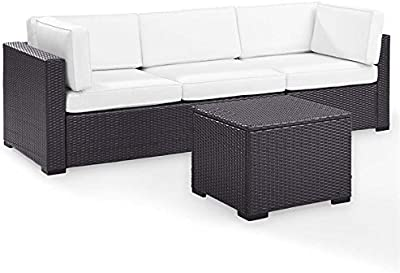 Amazon Com Rush Valley 3 Piece Outdoor Sectional Sofa Set Red