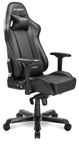 DXRacer 275LB Gaming Chair 90-135 Degree High-Back Racing Recliner 4D Arms Ergonomic Home Office Executive PC Computer Seat, King Series KS06, Large, Black