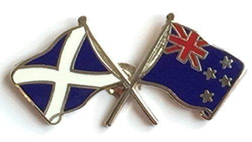 Escocia y la bandera de la insignia de la amistad de Nueva Zelanda