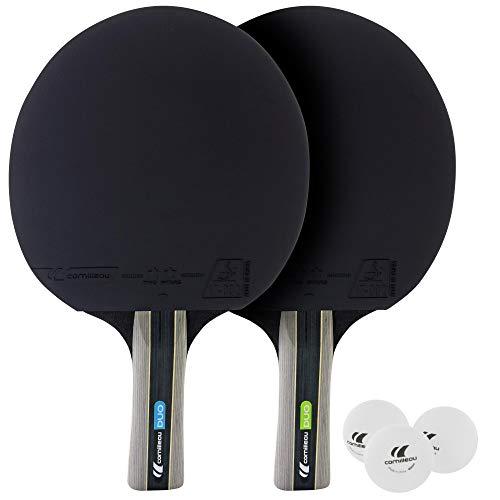 Cornilleau Sport Duo Set de 2 Raquetas y 3 Pelotas, Unisex Adulto, Rojo, Talla Única