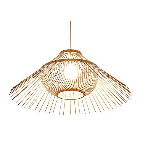 WNN-L Southeast Asian Japanese Lighting E27 Modern Rattan Basket Ceiling Pendant Light Shade Natural Wicker Tiered Rattan Chandelier L
