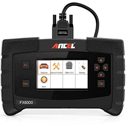 ANCEL FX6000 OBD2 Scanner with All System Automotive Code Reader Vehicle OBDII Diagnostic Scan Tool for Engine ABS SRS Transmission DPF TPMS EPB IMMO ECU Programming & Coding