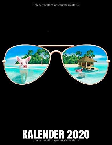 Kalender 2020: Sommer - Sonnenbrille - Bahamas Schwimmende Schweine Kalender Terminplaner Buch - Jahreskalender - Wochenkalender - Jahresplaner