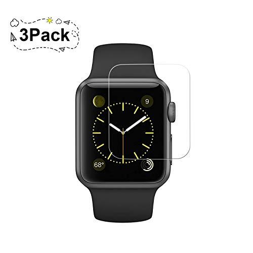 3 Pack Apple 38mm Watch Screen Protector (38mm Series 3/2/1 Compatible) BBInfinite Full Coverage Anti-Scratch/Anti-Fingerprint/High Definition Screen Protector Compatible Apple Watch 38 mm