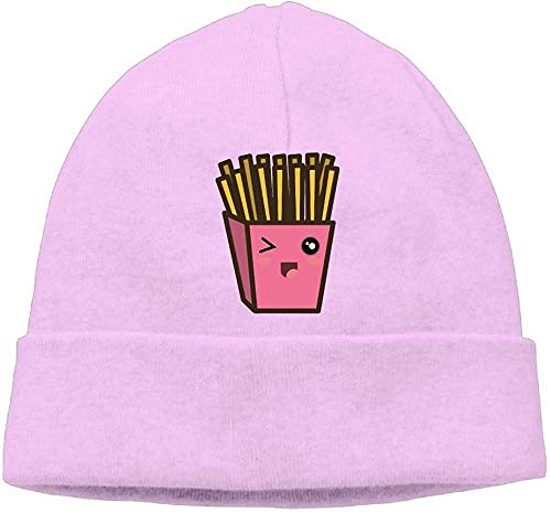 NA Mode Effen Kleur Franse Fries Coltrui Cap Voor Unisex Roze