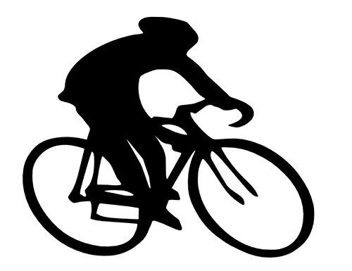 Rennradfahrer Aufkleber Radfahrer Aufkleber in Den Größen 10cm Oder 15cm (133/4) (10cm, Schwarz Glanz)