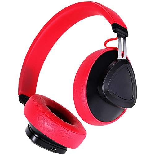 Bluetooth draadloze headsets, ruisonderdrukkende microfoon zachte oorkussens Surround stereo telescopische armen volumeregeling over oor hoofdtelefoon Rood