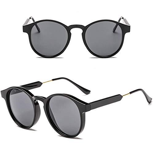 YDXC Gafas de Sol Personalidad de Moda Retro Unisex Gafas Estilo Coche Conductor Aplicar al Trabajo por Ordenador o Conducir y Otras Actividades al Aire Libre-Negro