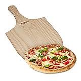 Relaxdays Pizzaschieber aus Holz, mit handlichem Griff, für Brot & Flammkuchen, Pizzaschaufel, BxT: 30,5 x 54 cm, natur
