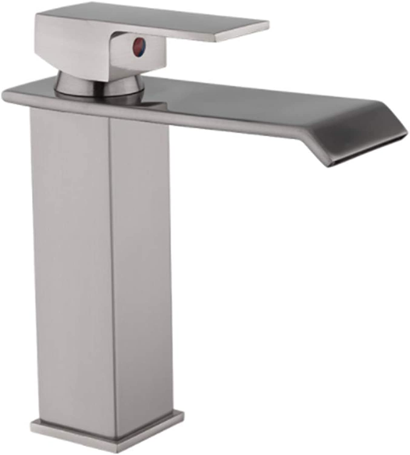 Taps Kitchen Basin Bathroom Washroombathroom Basin Faucet Sell Well Waterfall Chrome Single Handle Single Hole Mixer Sink Tap Deck Mounted Square Taps