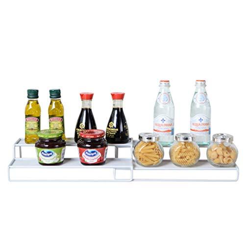 Küche liefert Rack Gewürzregal versenkbare Schmiedeeisenboden Lagerregal