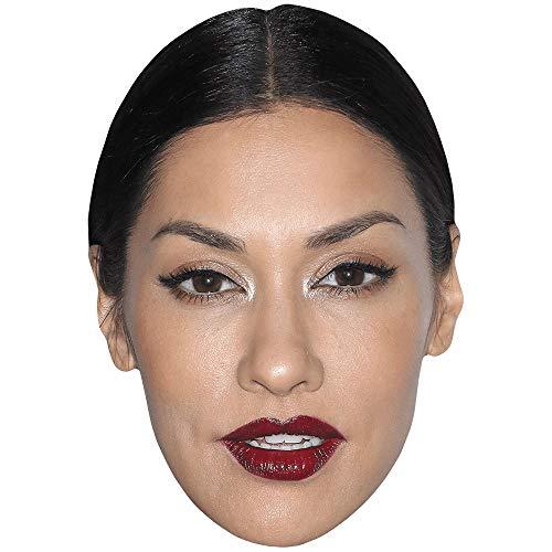 Celebrity Cutouts Janina Gavankar (Lipstick) Big Head. Larger than life mask.
