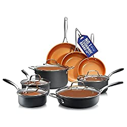 professional Hard alumite pot and frying pan Gotham 13 piece premium cookware with non-stick coating …