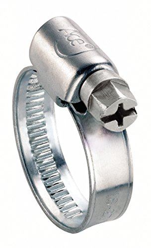 Ace Lot de 10 colliers de serrage en acier doux plaqué zinc 23 à 35 mm