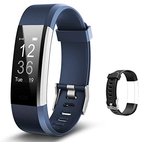 Lintelek Fitness Tracker with Heart Rate Monitor, Activity Tracker with Connected GPS, IP67 Waterproof Smart Band with Step Counter, Calorie Counter, Pedometer