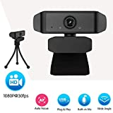 Full HD 1080P Webcam - Microphone Laptop USB PC Webcam, HD Full Gaming Computer Camera, Recording Pro Video Web Camera for Calling, Conferencing, 110-Degree Live Streaming Widescreen Webcam