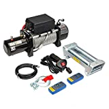 Electric Winch 12V 13000 lbs Recovery Winch Fit for Trailer Truck SUV with...