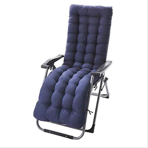 NoNo ligstoelkussen chaiselongue kussen patio stoelkussen buitenmatras tuin zonneligstoel ligstoel interieur veranda pad 48x125cm Drak blue