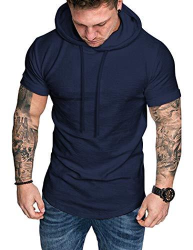 COOFANDY Camisetas de Fitness para Hombre Camiseta Deportiva T-Shirt Atlético Entrenamiento Transpirable Cómodo Muscle Camisetas para Correr Secado rápido