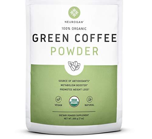 Neurogan Green Coffee Bean Powder Extract for Weight Loss, Improved Metabolism & Fat Burn - 200g, Maximum Strength Chlorogenic Acid - 100% Organic, Non-GMO, Vegan Friendly