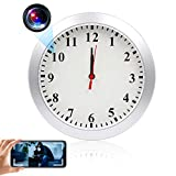 Wall Clock Camera TTCDBF HD 1080P WiFi Hidden Camera Wireless Real-time View Mini Video Recorder Motion Detection Nanny Cam for Home Office Security (Without Night Vision.)