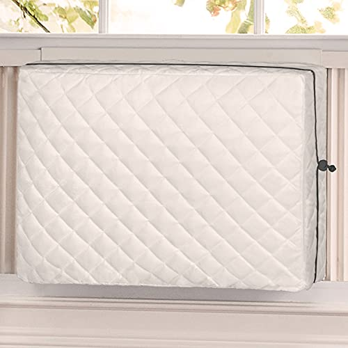 Forestchill Indoor Air Conditioner Cover, 25 L x 17 H x 3.5 D inches Double Layer Insulation Inside Window AC Unit Covers, Medium Beige