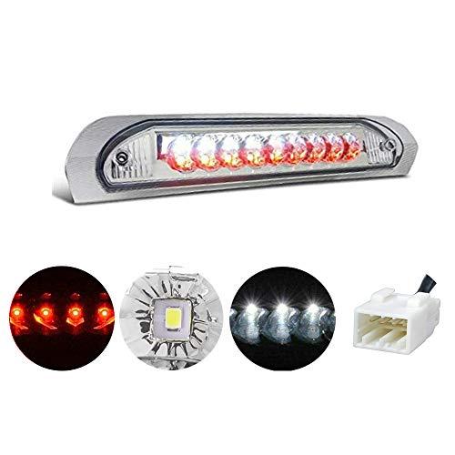 고산 방수 듀얼 로우 LED 3차 테일 리어 브레이크 라이트 카고 램프 교체 2002-2009 닷지 램 1500 2500 3500(크로메 렌즈)