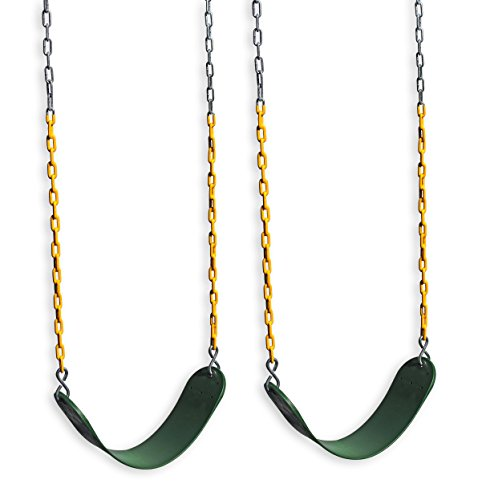 Eastern Jungle Gym 2 Outdoor Swing Seats for Playset Replacement Swings with Coated Swing Chains 66'