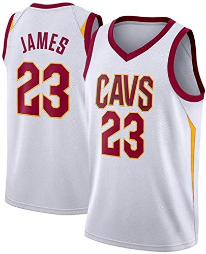 GJYJJKRY Fans Jersey All-Star NBA Cavs 23 James Ropa De Baloncesto Cómodas Camisetas Deportivas De Malla Bordada Transpirable,White-XXL
