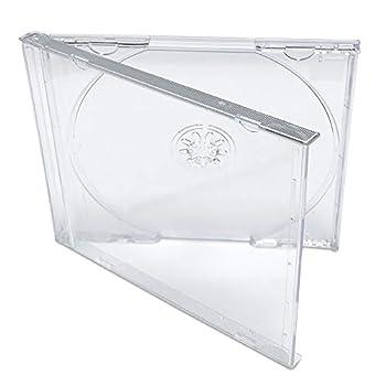 KEYIN Standard Clear CD Jewel Case - Premium 50 Pack