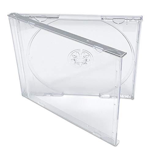KEYIN Standard Clear CD Jewel Case - Premium, 10 Pack