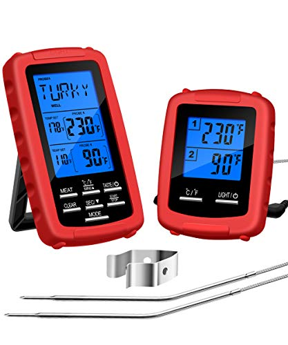 Govee Digital Meat Thermometer, Wireless Grill Thermometer with 2 Probes Remote Cooking Food Thermometer for BBQ Meat Thermometer with Timer and Alarm for Grilling/Kitchen 328 Feet Range
